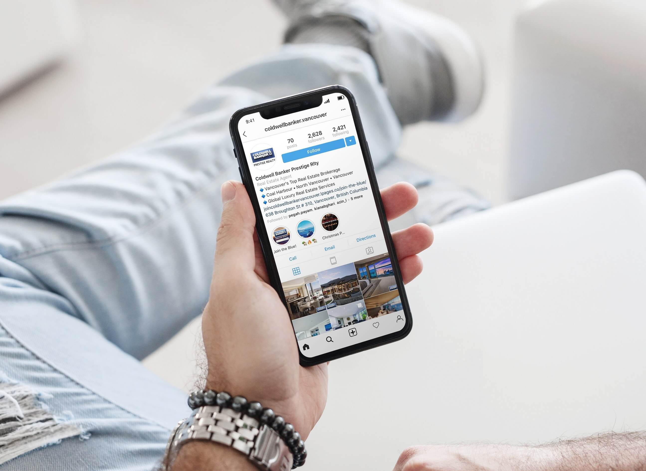 Coldwell Banker Instagram Growth