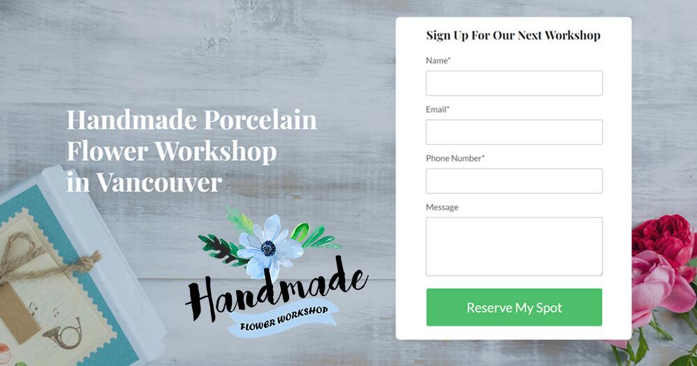 Handmade Flower Workshop